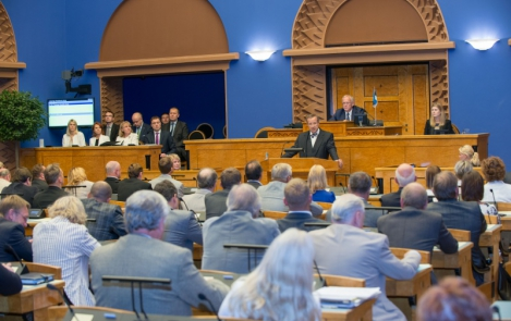 President Toomas Hendrik Ilves at the opening session of the Riigikogu 8 September 2014, Toompea