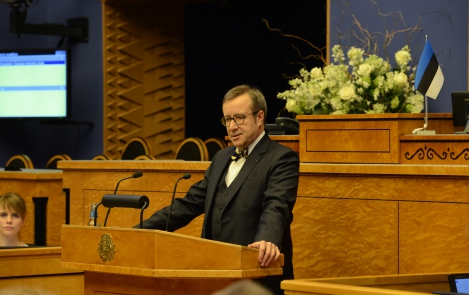 President of the Republic at the opening of the new, 13th Riigikogu (Parliament) 30 March 2015, Tallinn