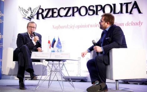 President Ilves in Varsaw at a moderated discussion of a conference hosted by the Center for European Policy Analysis (CEPA) in co-operation with the Polish newspaper Rzeczpospolita