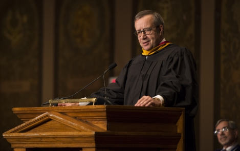 President Ilves at the Georgetown School of Foreign Service Graduation, 20 May 2016