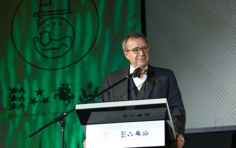 President Ilves addressing the Baltic American Freedom Foundation, Riga, 20 June 2016
