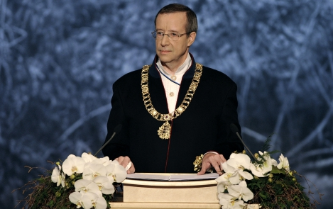 Toomas Hendrik Ilves, the President of the Republic on the 94th anniversary of the Republic of Estonia in the Vanemuine, Tartu, 24 February 2012
