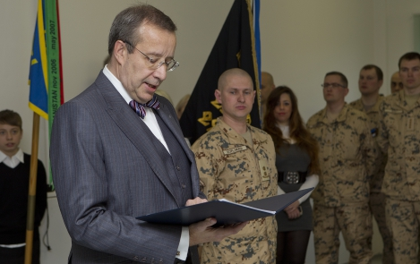 President of the Republic at a meeting with the ESTCOY-14 unit that is about to be deployed to Afghanistan, Paldiski, 20 April 2012