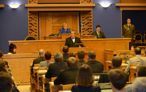 President of the Republic in the Riigikogu on 10 September 2012