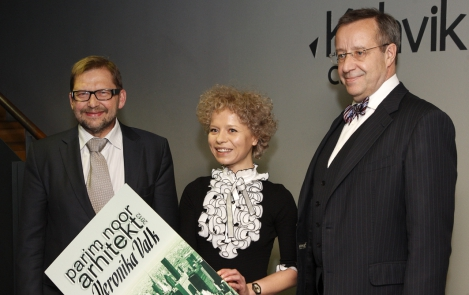 President Ilves presented the Young Architect Award to Veronika Valk
